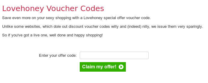 How to redeem your lovehoney coupon code