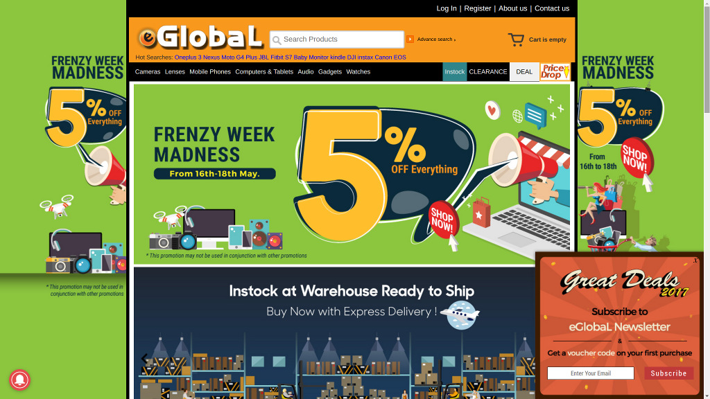 eGlobal Deals & Coupon Code