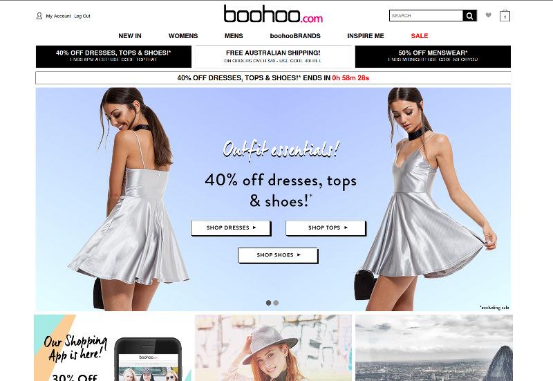 boohoo.com online fashion retailer